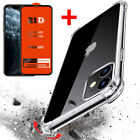 Case For iPhone 12,Pro Max,Mini,CLEAR Silicone Shockproof Cover Screen Protector