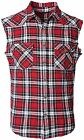 NUTEXROL Men's Casual Flannel Plaid Shirt Sleeveless Cotton Plus Size Vest