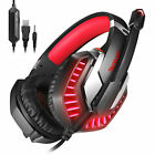 3.5mm Pro Gamer Mic Gaming Headset Mic LED Stereo Headphone For PS5/Xbox One/PC