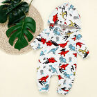 Infant Baby Boys Girls Long Sleeve Dinosaur Hooded Coat jacket Romper Jumpsuit