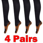 4 Pairs Compression Socks 15-20mmhg Relief Miracle Calf Support Fpr Men/Womens