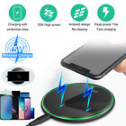 15W Fast Qi Wireless Charger Charging Pad Mat LED Station For iPhone 12 11 XS XR