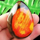 Natural Red Yellow Black Fire Agate Teardrop Centerpiece Pendant Beads #2001