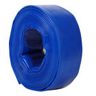 PVC Layflat Water Delivery Hose Garden Discharge Pump Lay Flat Pipe Blue 25-75mm
