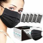 50 / 100 PCS Black Face Mask Mouth & Nose Protector Respirator Masks with Filter