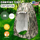 US Pop-up Toilet Dressing Shower Tent Shelter Privacy Change Room Camp Outdoor