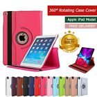 Case Cover For I pad 2/3/4 mini Air 1/2 Leather 360˚ Rotating Smart Stand