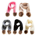 Kids Soft Knitted Scarf Infant Toddler Fashion Solid Winter Warm Wrap Shawl