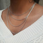 2mm Diamond Cut.925 Sterling Silver Rhodium Plated Rope Chain