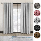 A Pair Of 66x90 Inch Crushed Velvet Curtains Eyelet Ring Top Fully Lined Ready