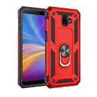 Dual-Layer Metal Ring Kickstand For Samsung J4 J6 2018 Rugged Armor Case Cover