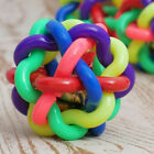 NEW Pet Puppy Dog Rope Chew Toys Tough Strong Knot Ball Rubber Teething Toys