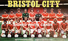 BRISTOL CITY FC AUTOGRAPHS FROM LATE 1970-90's SIGNED WHITE CARDS