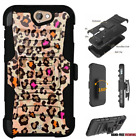 For HTC Bolt,One A9,Desire Series Hybrid Belt Clip Holster Case Colors Cheetah