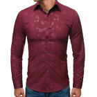 Slim Fit Luxury Business Formal Shirt T Shirt Blouse Top Floral Fashion New Mens