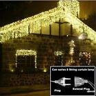 Led Christmas Garland Light Icicle Curtain Drop String Fairy Lamp 0.4-0.6m 4.6m