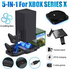For Xbox Series X LED Vertical Stand Dual+Controller Charger+Cooling Fan+USB Hub