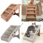 Puppy Dog Folding 4 Steps Stair Pet Cat Play Ladder Ramp Carpet Surface Sofa Bed
