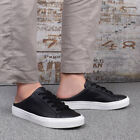 New Men's Casual Comfort Leather Backless Slide Slip On Mules Sneakers Shoes