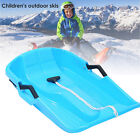 Durable Snow Sled Child Adults Winter Fun Toy Downhill Sled Toboggan Sledge Luge