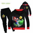 Super mario Yoshi Leisure Sport zipper Sweaters Trousers Birthday Gifts Set of 2