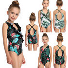 Girls Swimwear Swimsuit Kids Cutout Racer Back Bathing Suit One Piece Beachwear