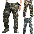 Men's Military Combat Joggers Trousers Camouflage Casual Cargo Camo Work Pants