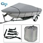 210D 11-22Ft Waterproof Heavy Duty Trailerable Boat Cover Fishing V-Hull