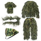 Adult/Kid Ghillie Suit Camo Woodland Camouflage Forest Outdoor Hunting 5pcs Suit