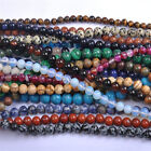 Natural Gemstone Round Spacer Loose Beads 4mm 6mm 8mm 10mm 12mm Assorted Stones