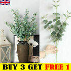 Artificial Fake Leaf Eucalyptus Green Plant Silk Flowers Indoor Home Decor Ukge