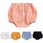 Baby Girl Boys Cotton Linen Blend Cute Bloomer Shorts Loose Harem Solid Shorts
