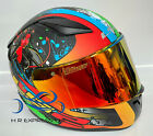 LS2 RAPID FULL FACE MATT FIESTY DEVIL CORPSE MOTORCYCLE HELMET RED IRIDIUM VISOR