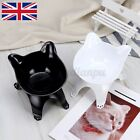 Cute Cat Face Pet Cat Bowl with Raised Stand Dog Cat Food Water Feeding Station