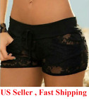 Внешний вид -  New Women Fashion Shorts Sexy Black Lace Hollow Out Summer Short Pant`US