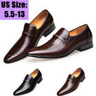 MENS SMART WEDDING SHOES ITALIAN FORMAL OFFICE WORK CASUAL LEATHER DRESS SHOE US