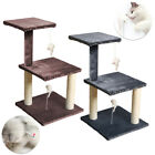 Cat Scratching Post Bed Tree Kitten Play Activity Centre Sisal Scratcher w/Toys