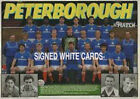 PETERBOROUGH UNITED FC AUTOGRAPHS FROM LATE 1970-90's SIGNED WHITE CARDS