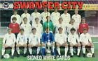 SWANSEA CITY FC AUTOGRAPHS FROM LATE 1970-90's SIGNED WHITE CARDS