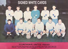SCUNTHORPE UNITED FC AUTOGRAPHS FROM LATE 1970-90's SIGNED WHITE CARDS
