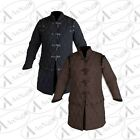 Medieval Thick Padded Full Length Sleeves Gambeson Coat Aketon Jacket Armor Gift