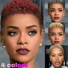 Short Afro Curly Wigs Synthentic Hair Pixie Cut Wigs None Lace for Black Women