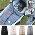 Fashion Baby Sweater Sleeping Cover Bag Button Knitted Blankets Crochet