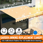 Patio Awning Canopy Waterproof Sun Shade Shelter Replacement Fabric Top Cover US