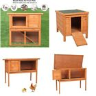 Dog Kennel Wooden Pet House Outdoor Waterproof Hutch Rabbits Ferrets Guinea Pigs