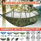 Portable Camping Hammock with Mosquito Netting Hanging Hammock Bed Outdoor Swing