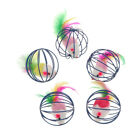 5Pcs Rat In A Cage Ball, Pet Cat Toy Funny Mouse Doll Im