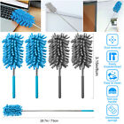 2PCS Extendable Bendable Soft Microfiber Duster Brush Cleaning Tool Washable NEW