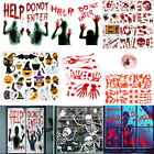 Window Halloween Party Glass Decals Removable Decor Stickers For Home Office