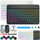 Bluetooth Backlit Keyboard& Mouse For Ipad Samsung Tab Android Windows Tablet Pc